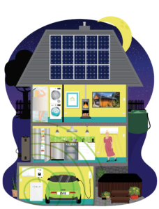 Eco-House-Nighttime